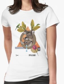 Animal Collection -- Oh Deer Womens Fitted T-Shirt