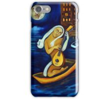 Moon, Lovers, Lute iPhone Case/Skin