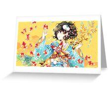 japan anime Greeting Card