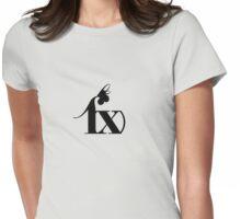 f(x) - Black Logo Womens Fitted T-Shirt
