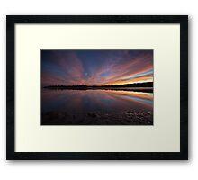 Sunset on Highway 1, California Framed Print