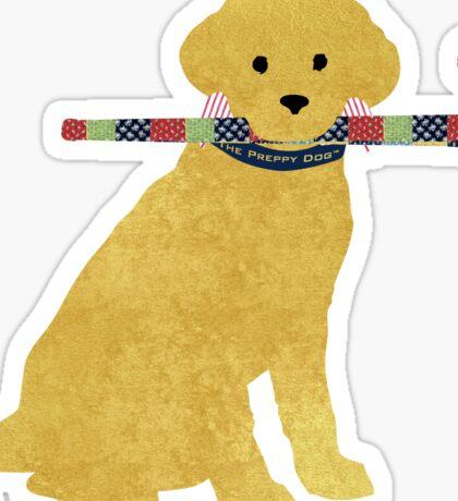 Yellow Lab Retriever Field Hockey Dog Sticker