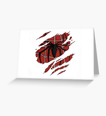 Ripped Spidey Greeting Card