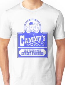 Cammy's Old Fashioned Street Fighting BLUE STENCIL T-Shirt