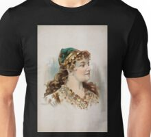 Performing Arts Posters Head and shoulders image of blond woman facing right wearing gypsy like clothing 1549 Unisex T-Shirt