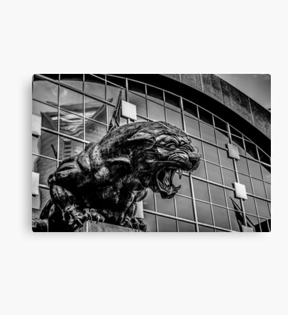 panther statue Canvas Print