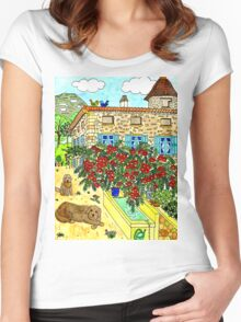 Beautiful Farm of Brigaudière Women's Fitted Scoop T-Shirt