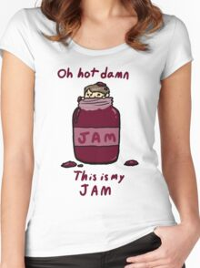 John's Jam Women's Fitted Scoop T-Shirt