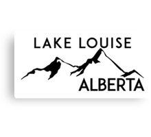 LAKE LOUISE ALBERTA CANADA SKIING MOUNTAINS SNOWBOARDING BANFF Canvas Print