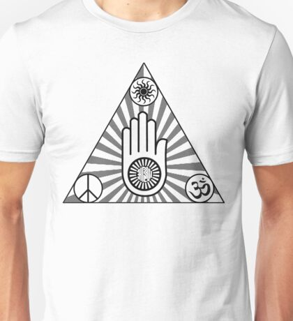 Triangle of peace, karma, non-violence and light.  Unisex T-Shirt