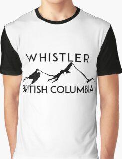 WHISTLER BRITISH COLUMBIA CANADA SKIING SNOWBOARDING MOUNTAINS SKI Graphic T-Shirt