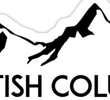 BRITISH COLUMBIA CANADA SKIING SNOWBOARDING MOUNTAINS SKI Sticker
