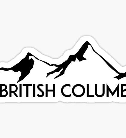 BRITISH COLUMBIA CANADA SKIING SNOWBOARDING MOUNTAINS SKI Sticker