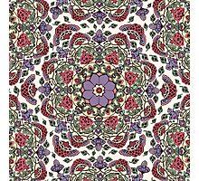 Deco Floral Photographic Print
