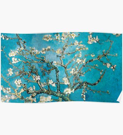 Van Gogh Almond Blossoms Tilt Shift Poster