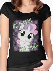 Set Phasers To Hug! Women's Fitted Scoop T-Shirt