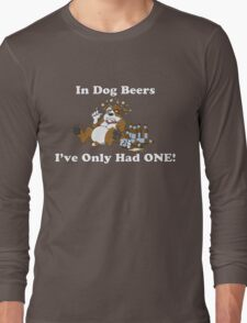 In Dog Beers (Brown & White) Long Sleeve T-Shirt