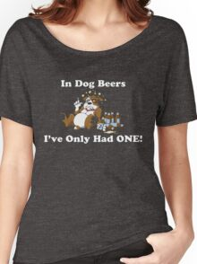 In Dog Beers (Brown & White) Women's Relaxed Fit T-Shirt