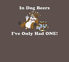In Dog Beers (Brown & White) Unisex T-Shirt