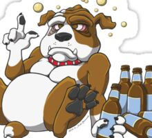 In Dog Beers (Brown & White) Sticker