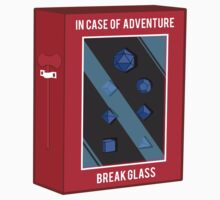 In Case of Adventure Break Glass - Blue Dice One Piece - Short Sleeve