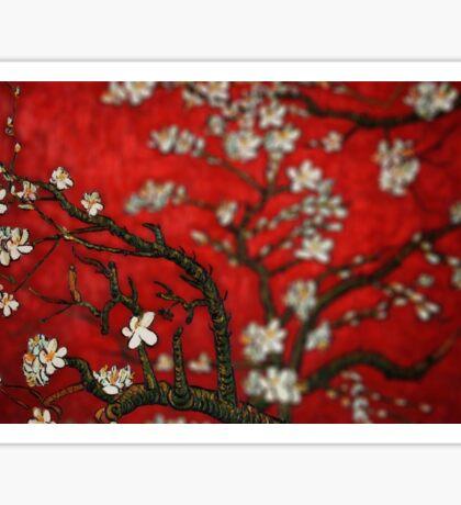 Van Gogh Red Almond Blossoms Tilt Shift Sticker