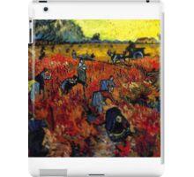 Van Gogh Red Vineyard Tilt Shift iPad Case/Skin