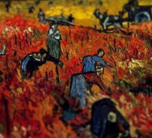 Van Gogh Red Vineyard Tilt Shift Sticker