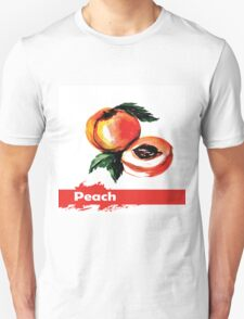 fruit peach,Hand drawn watercolor  Unisex T-Shirt