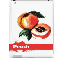 fruit peach,Hand drawn watercolor  iPad Case/Skin