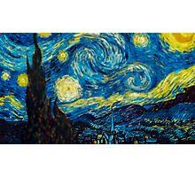 Van Gogh Starry Night Tilt Shift Photographic Print
