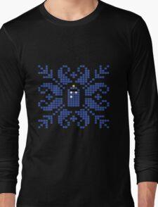 Knitted TARDIS Long Sleeve T-Shirt