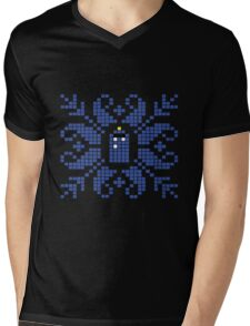 Knitted TARDIS Mens V-Neck T-Shirt