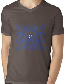 Knitted TARDIS Mens V-Neck T-Shirt