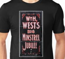 Performing Arts Posters William H Wests Big Minstrel Jubilee 1871 Unisex T-Shirt