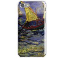 Van Gogh Ships Tilt Shift iPhone Case/Skin