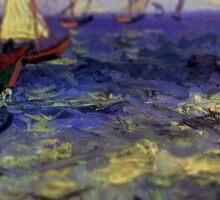 Van Gogh Ships Tilt Shift Sticker