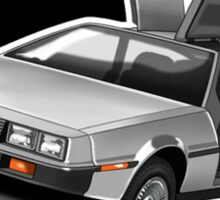 Delorean Iconic sportscar.. Sticker