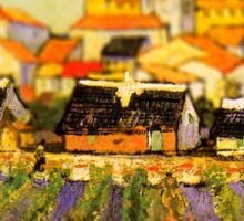 Van Gogh View of Saintes Maries Tilt Shift Sticker