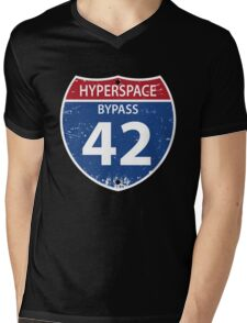 Hyperspace Bypass 42 Mens V-Neck T-Shirt