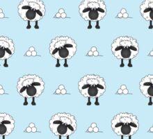 Sheep (Blue Background) Sticker