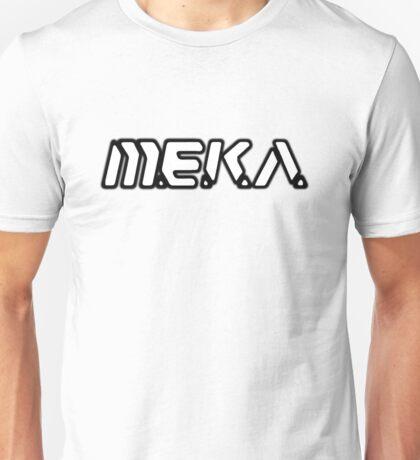 D.VA MEKA White With Black Outline Unisex T-Shirt