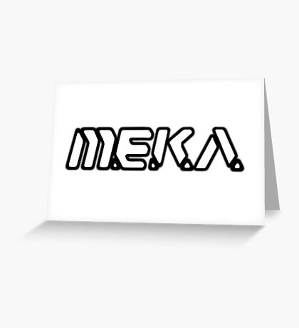 D.VA MEKA White With Black Outline Greeting Card