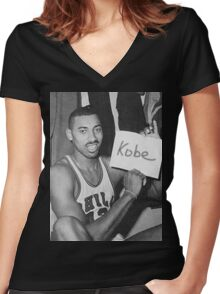 Kobe's 80 point game and Wilt's 100 point game Mashup  Women's Fitted V-Neck T-Shirt