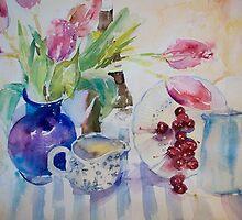 Tulips & Cherries by Julie Fowkes