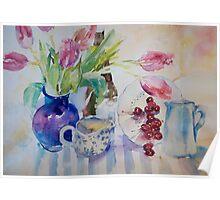 Tulips & Cherries Poster