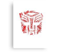 Transformers - Autobot Wordtee Canvas Print