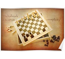 Chess ~ Simplicity... Poster