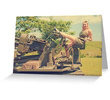 WWII Pinup Greeting Card
