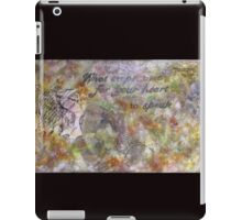 What Stops Time For Your Heart to Speak iPad Case/Skin